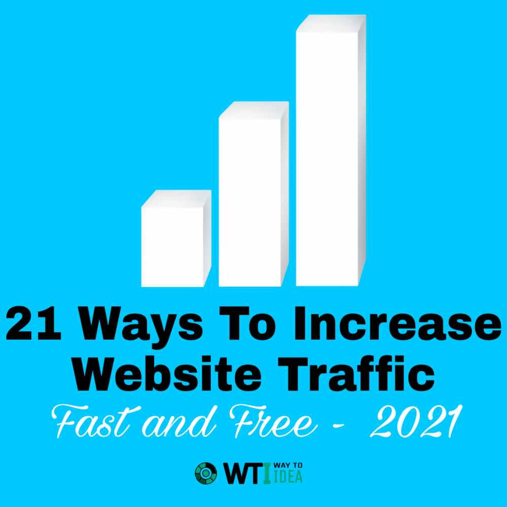 21 Ways To Increase Website Traffic Free and Fast 2021, Increase Website Traffic