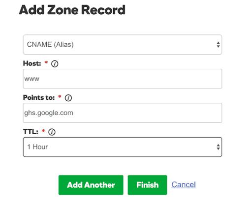 Add Cname Record Godaddy BlogSpot