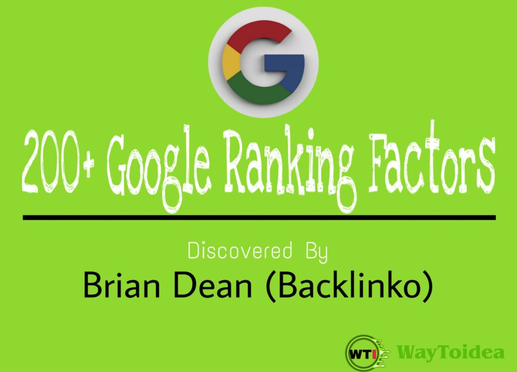 200+ Google Ranking Factors, Google ranking factors, ranking factors