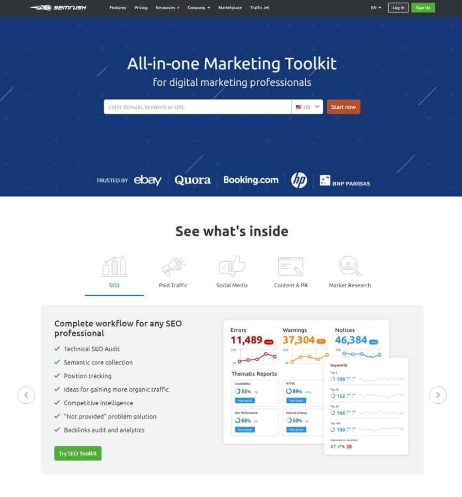 SEMrush-Online-free-backlink-checker-tool