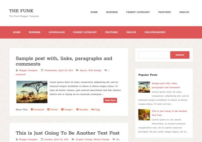 The Funk Blogger Template, Funk Blogger Template Free Download, Simple Blogger Template
