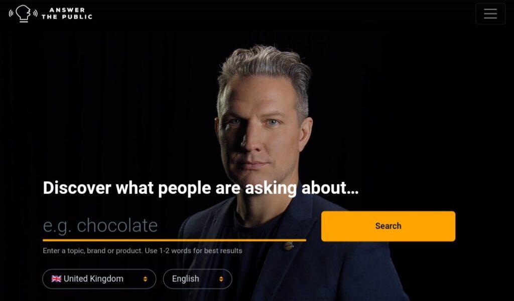 Answer the public SEO tools