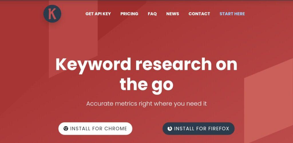 Keywords Everywhere - SEO keyword research tool