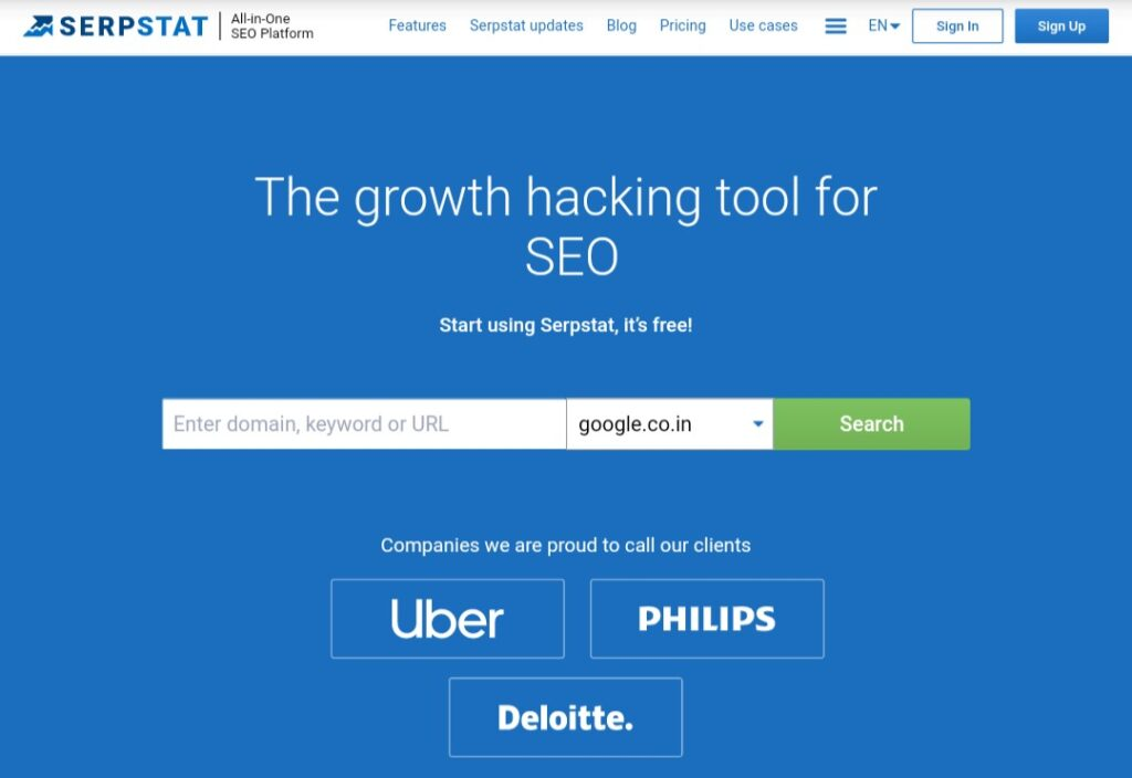 Serpstat - Growth Hacking tool for SEO